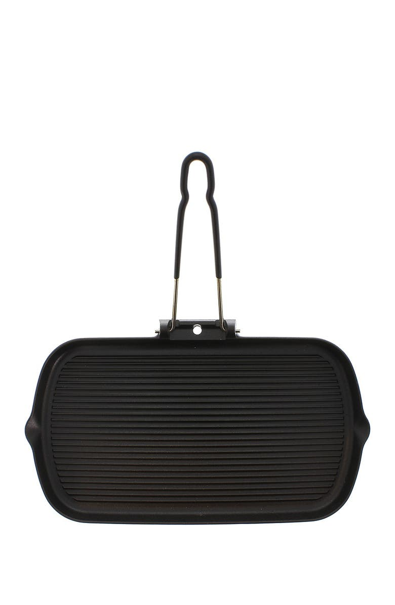 """FRENCH HOME 14"""" Black Rectangular French Cast Iron Grill, Main, color, BLACK"""