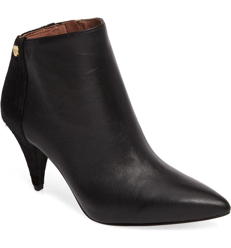 LOUISE ET CIE Warley Pointy Toe Bootie, Main, color, 001