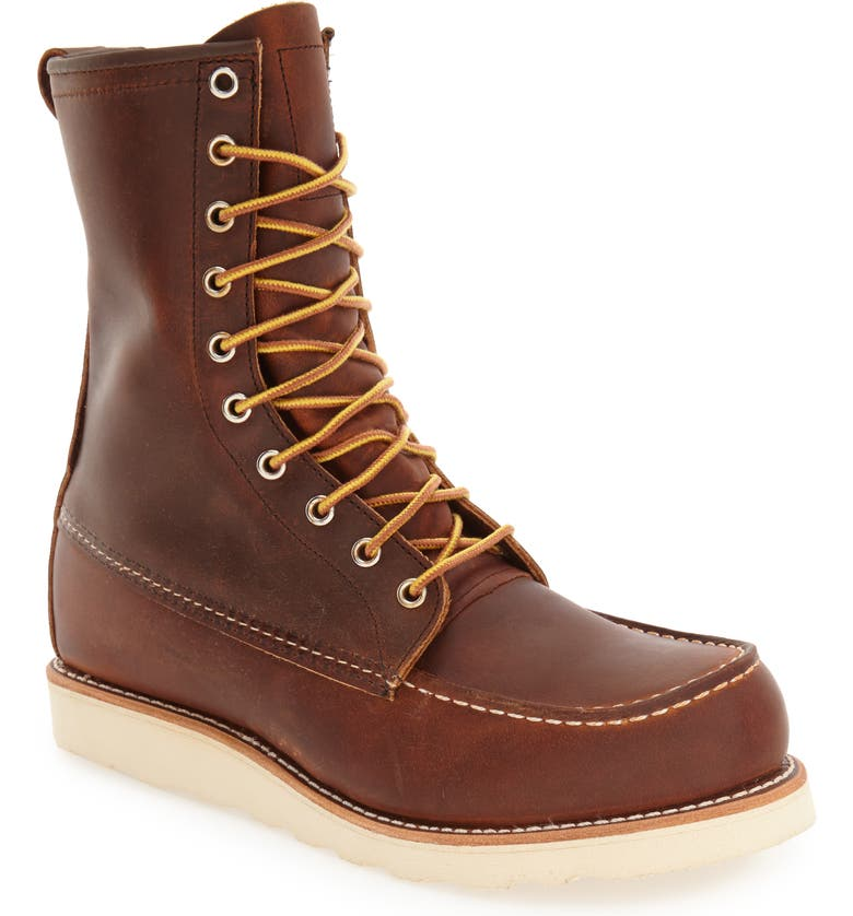 RED WING '877' Moc Toe Boot, Main, color, 200