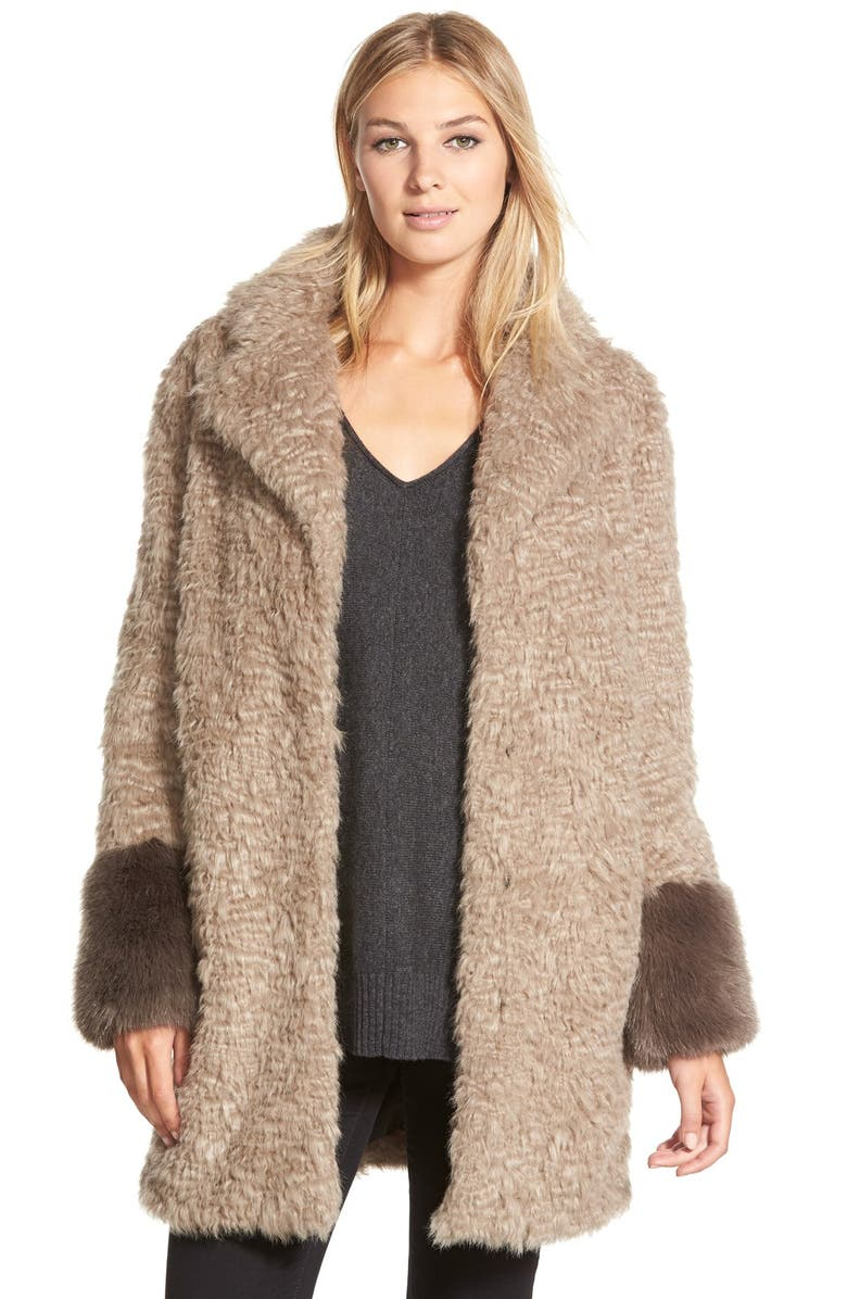 LAUNDRY BY SHELLI SEGAL Laundry by ShelliSegalFauxFur Coat, Main, color, 104