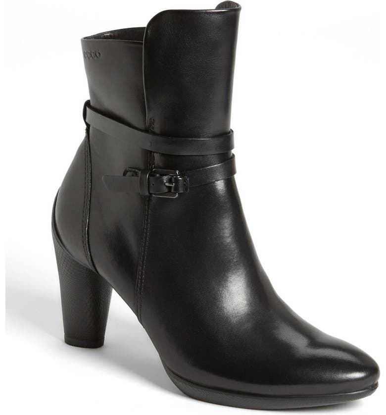 ECCO 'Sculptured' Ankle Boot, Main, color, BLACK