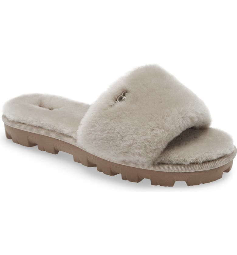 UGG<SUP>®</SUP> Cozette Genuine Shearling Slipper, Main, color, GOAT