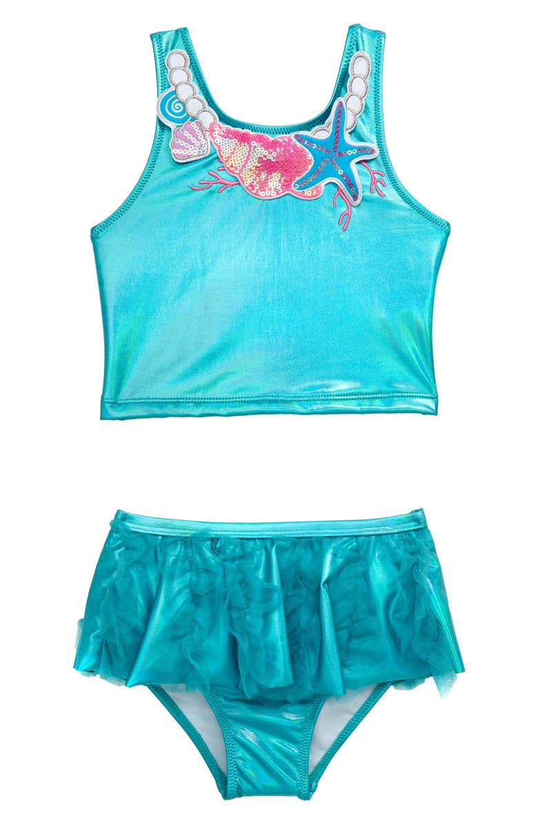 FLAPDOODLES Embellished Two-Piece Swimsuit, Main, color, 400