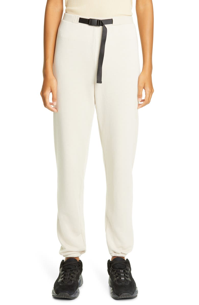 JOHN ELLIOTT Belted Fleece Sweatpants, Main, color, PUMICE