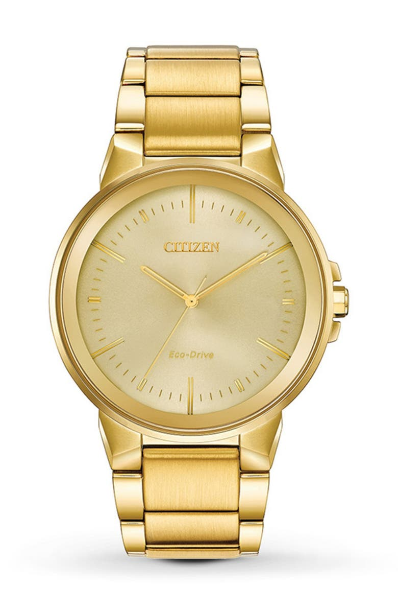 CITIZEN Men's Axiom Gold-Tone Stainless Steel Watch, 43mm, Main, color, ASSORTED