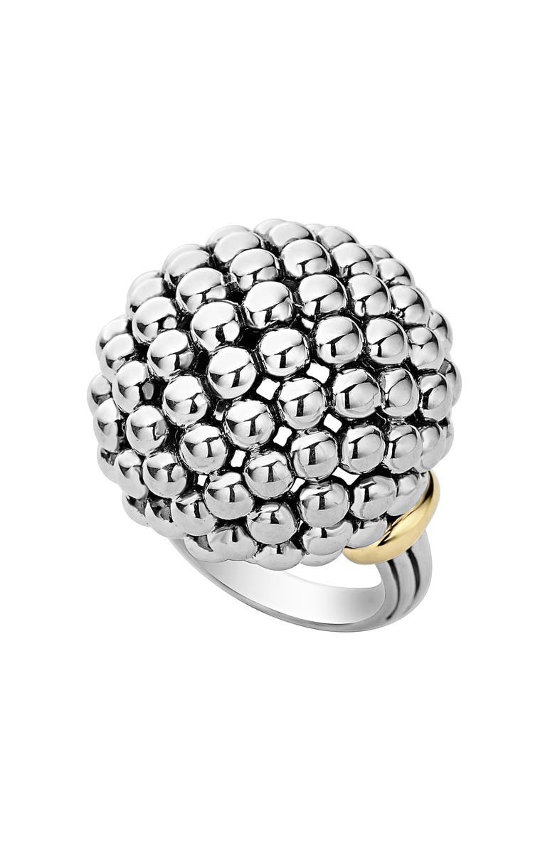 LAGOS 'Caviar Forever' Large Dome Ring, Main, color, 040