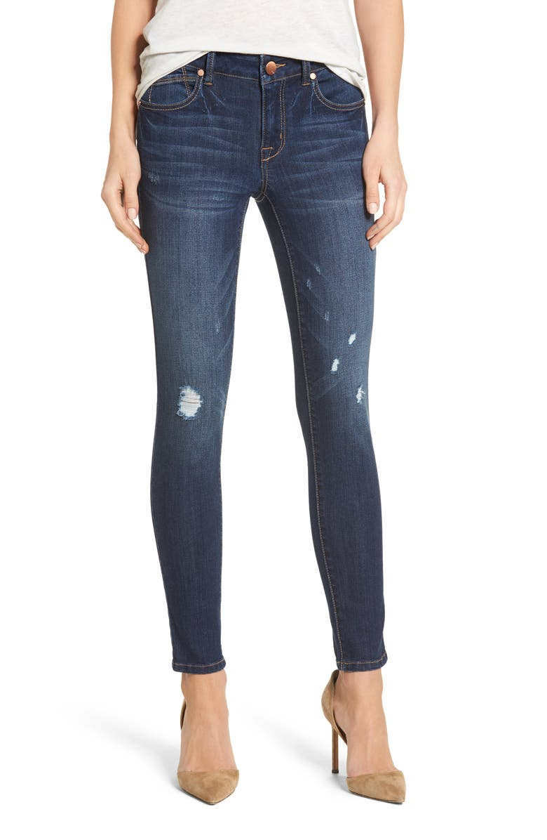 1822 DENIM Ripped Skinny Jeans, Main, color, 404