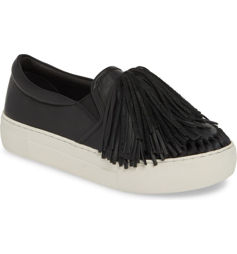 JSLIDES Aria Fringe Slip-On Platform Sneaker, Main, color, 015