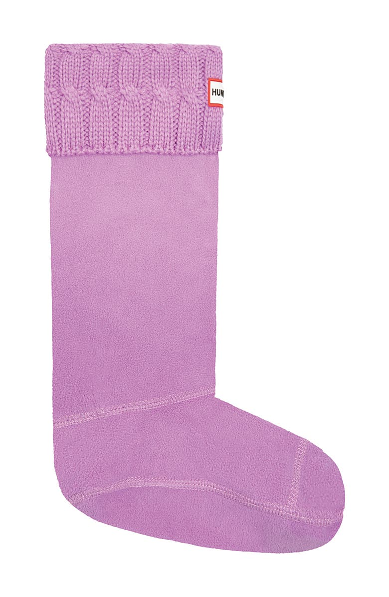 HUNTER Original Tall Cable Knit Cuff Welly Boot Socks, Main, color, 529