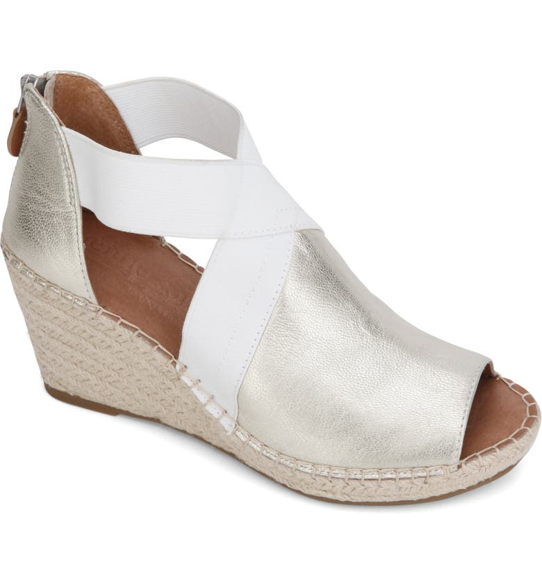 GENTLE SOULS SIGNATURE Colleen Wedge Sandal, Main, color, ICE