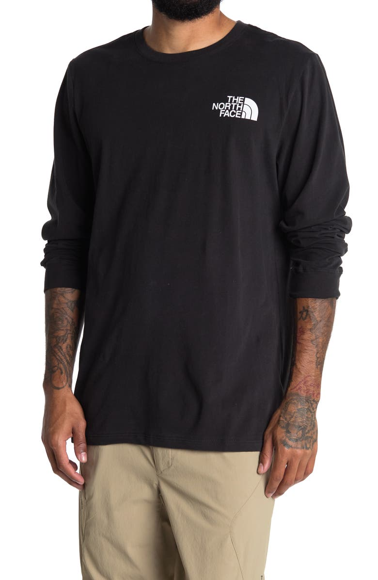 THE NORTH FACE Half Dome Long Sleeve T-Shirt, Main, color, TNF BLACK