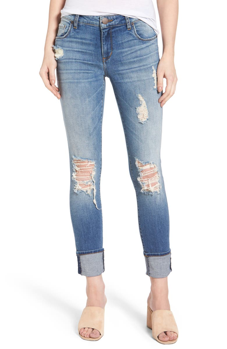 STS BLUE Taylor Tomboy Ripped Boyfriend Jeans, Main, color, 400