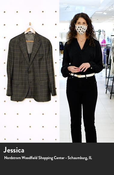 Flynn Classic Fit Check Wool & Cashmere Sport Coat, sales video thumbnail