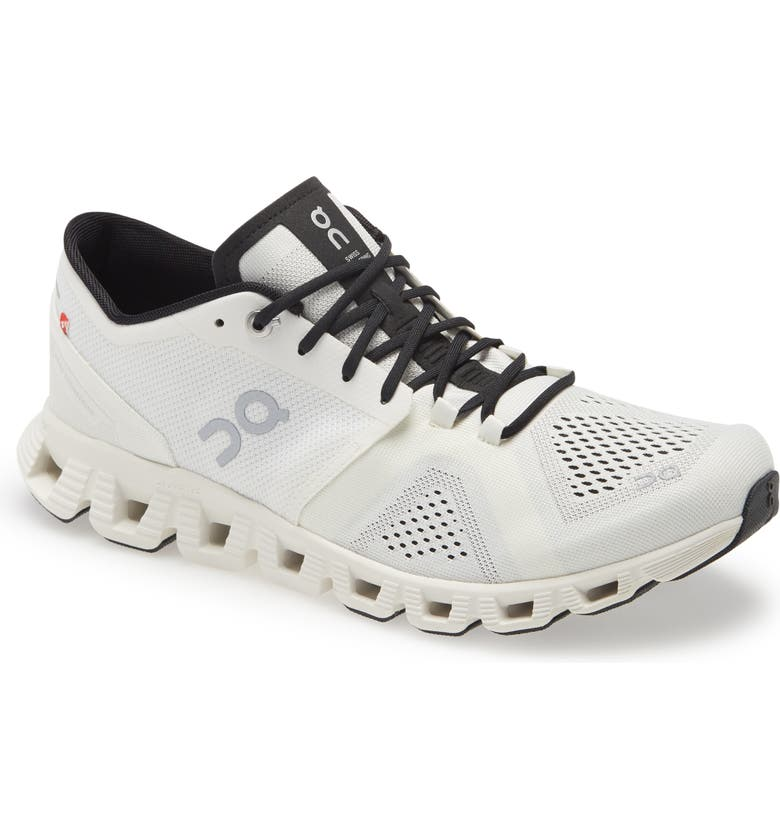 ON Cloud X Training Shoe, Main, color, WHITE/ BLACK