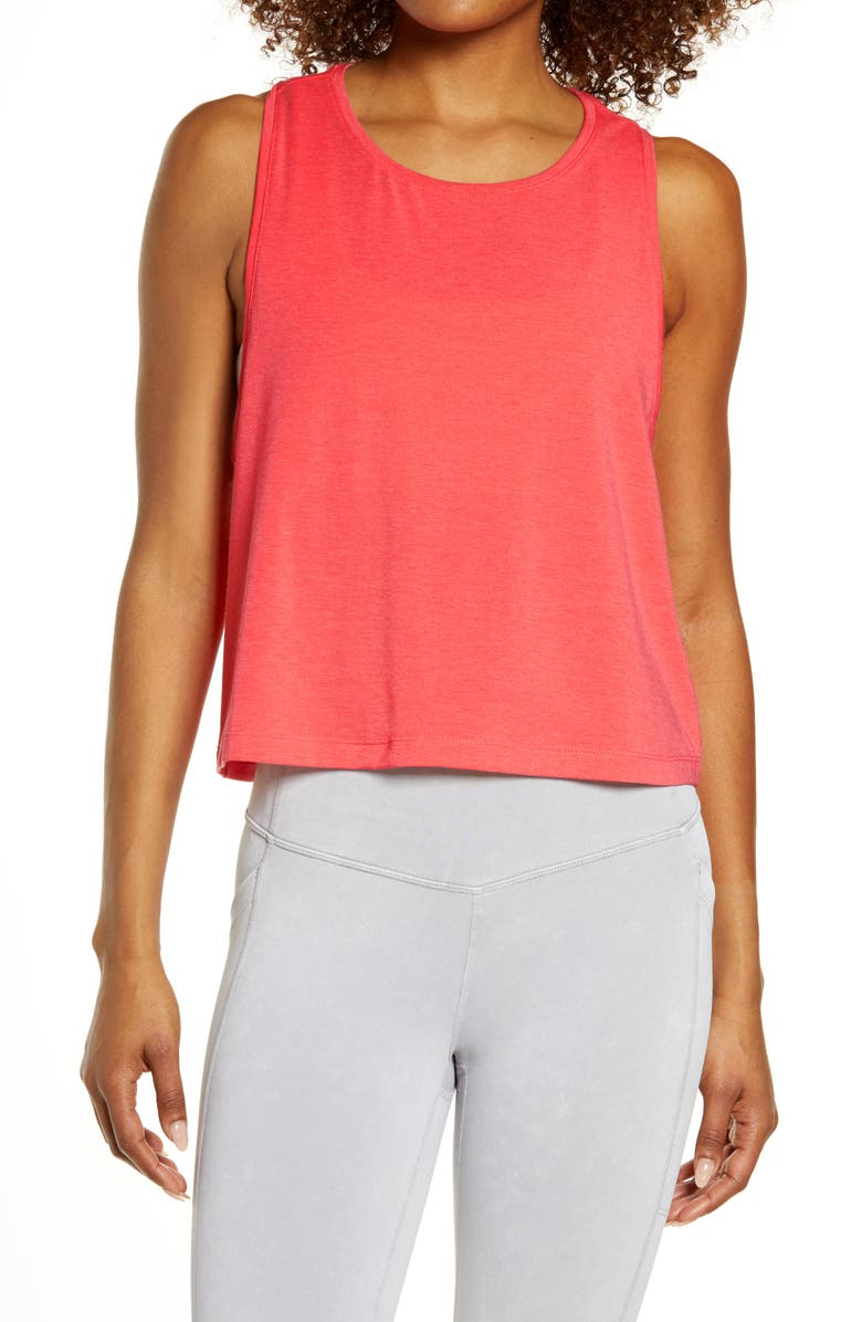 ZELLA Work For It Tank Top, Main, color, PINK PARADISE