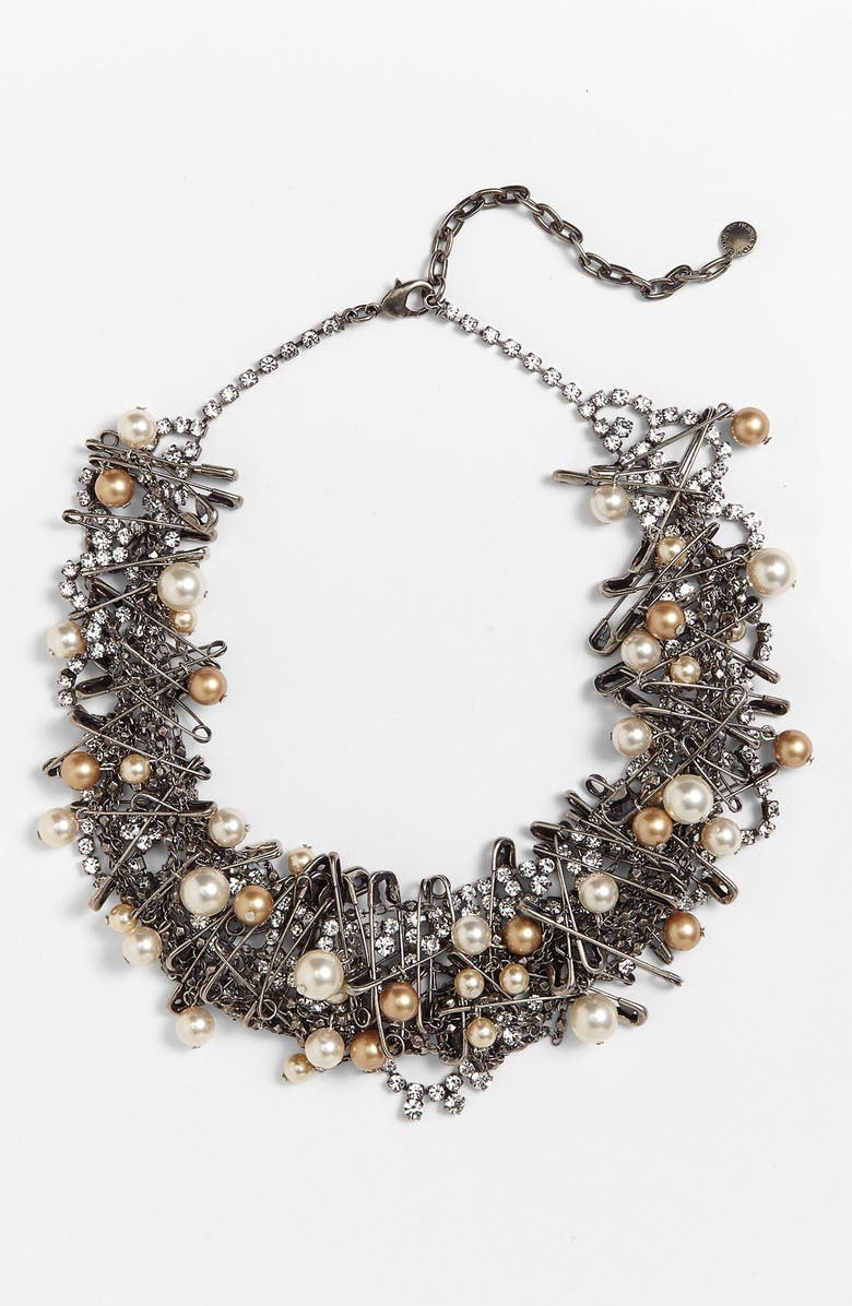 TOM BINNS 'Punk Chic Pearls' Statement Necklace, Main, color, 040