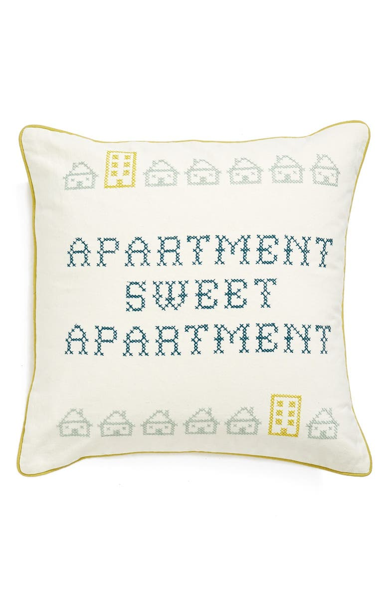 NORDSTROM at Home 'Sweet Apartment' Embroidered Accent Pillow, Main, color, 900