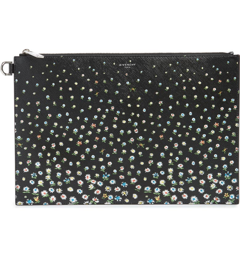 GIVENCHY Medium Iconic Print Coated Canvas Pouch, Main, color, 001