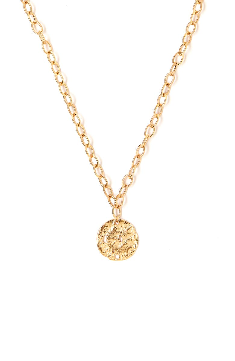 TESS + TRICIA Coin Pendant Necklace, Main, color, 710