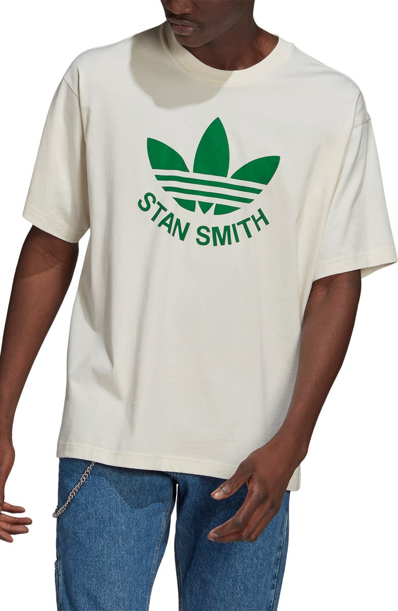 ADIDAS ORIGINALS Trefoil Stan Graphic Tee, Main, color, NON-DYED