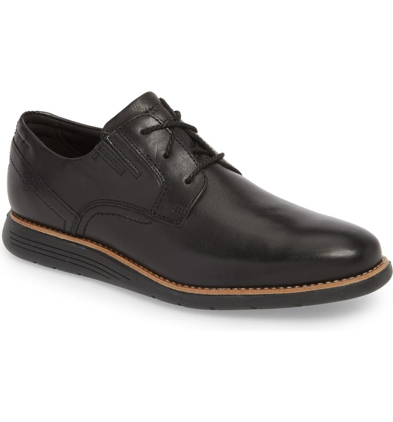 ROCKPORT Total Motion Sport Plain Toe Derby, Main, color, BLACK LEATHER