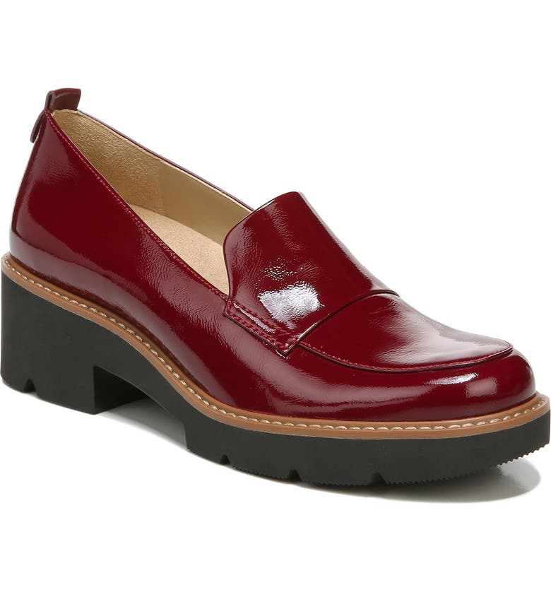 NATURALIZER Darry Leather Loafer, Main, color, PLUM ROUGE