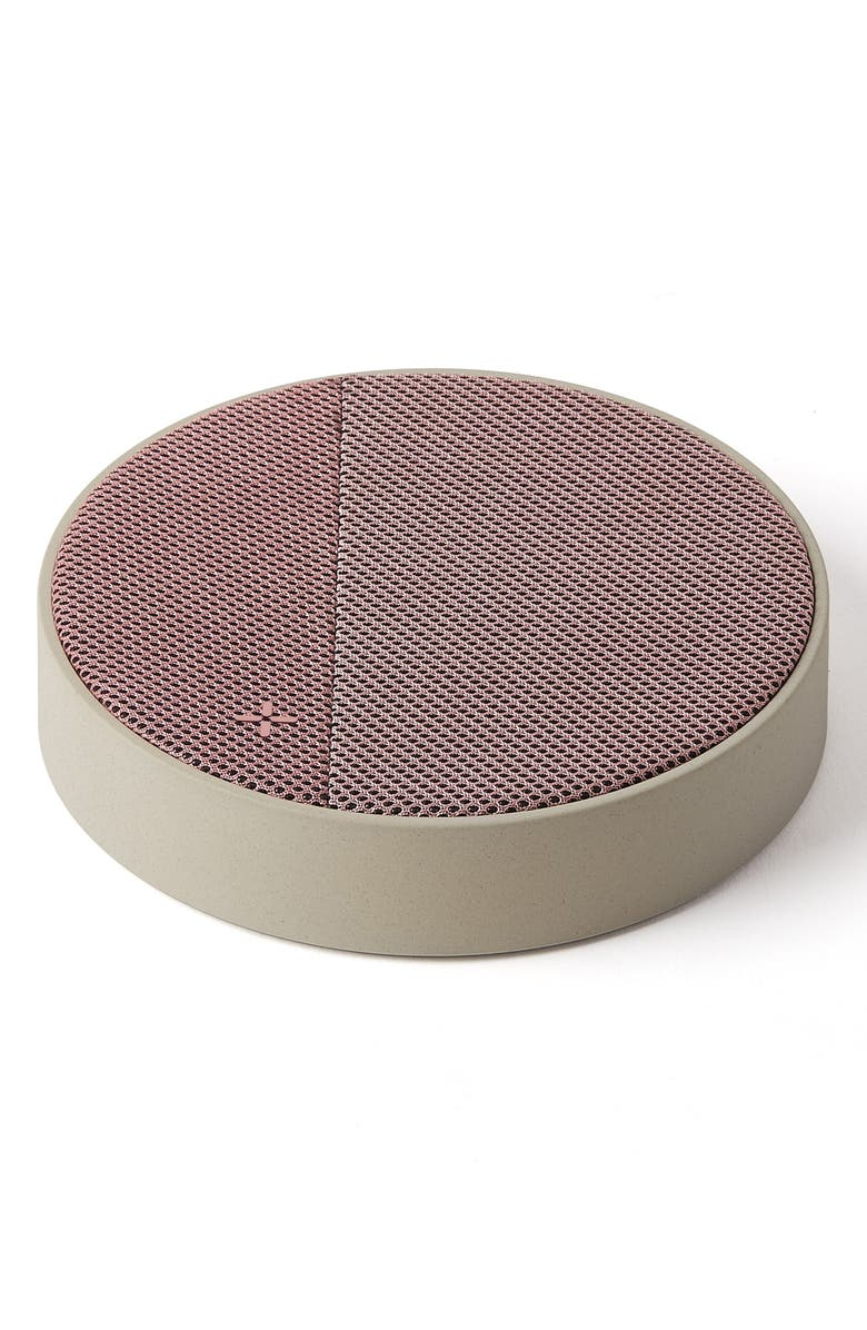 LEXON Oslo Energy Wireless Charging Pad & Bluetooth<sup>®</sup> Speaker, Main, color, STONE / PINK