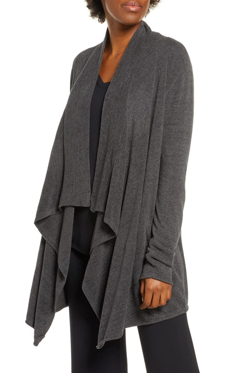 BAREFOOT DREAMS<SUP>®</SUP> CozyChic<sup>™</sup> Ultra Lite High/Low Cardigan, Main, color, CARBON
