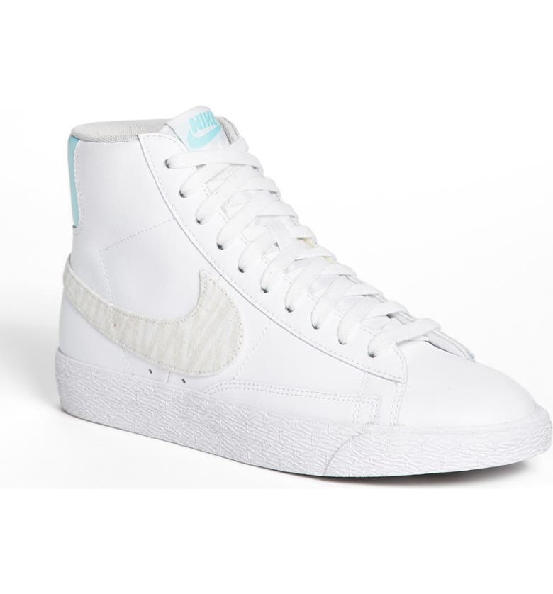 NIKE 'Blazer' Mid Leather Sneaker, Main, color, 103