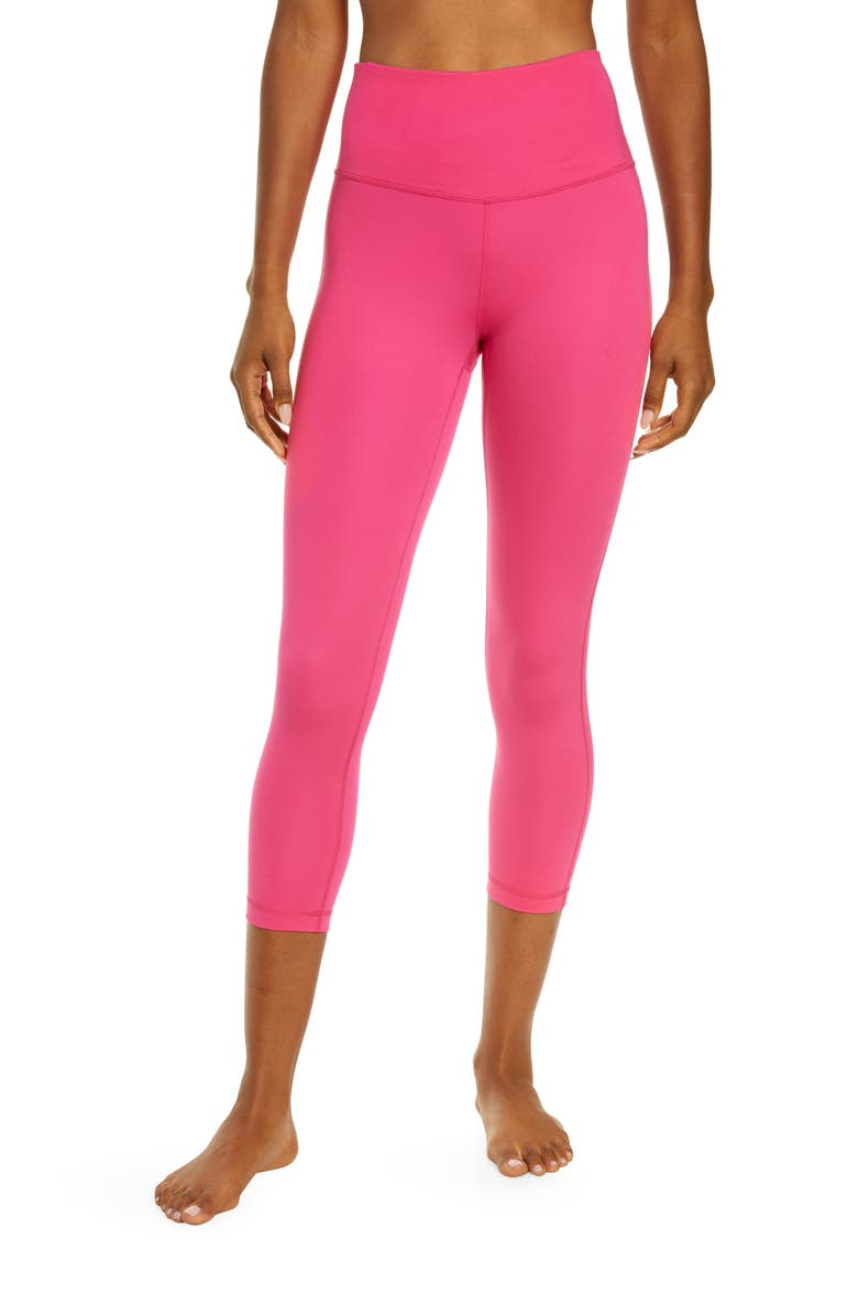 ZELLA Studio Crop Lite Leggings, Main, color, PINK ROUGE