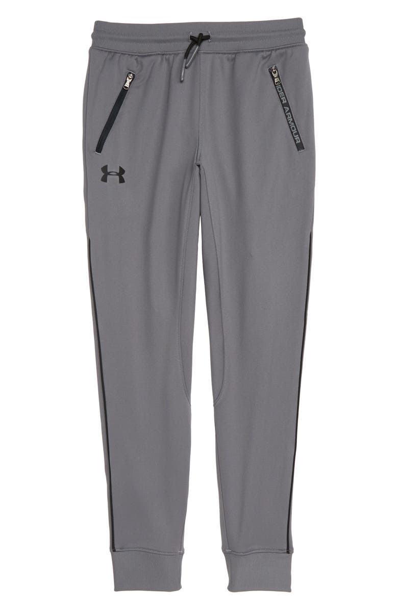 UNDER ARMOUR Pennant Tapered Sweatpants, Main, color, GRAPHITE / / BLACK