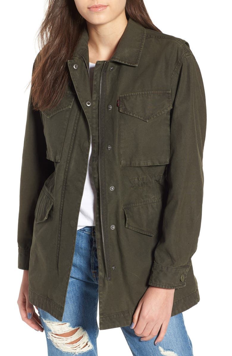 LEVI'S<SUP>®</SUP> Cotton Oversize Military Jacket, Main, color, 350