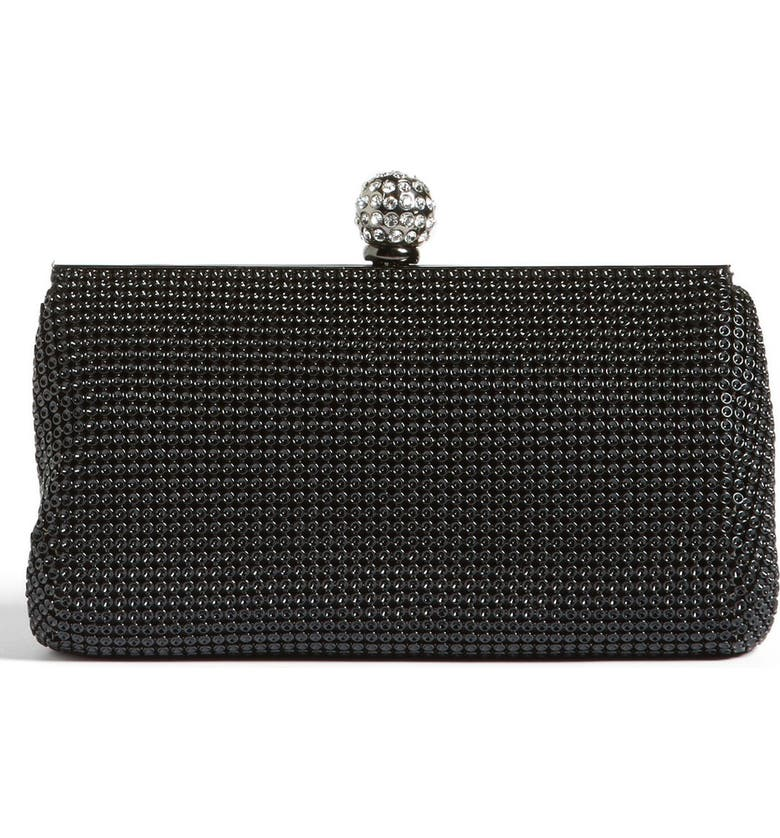 WHITING & DAVIS 'Crystal' Mesh Clutch, Main, color, 001