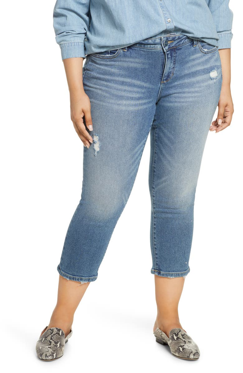 SLINK JEANS New School Ripped Crop Jeans, Main, color, 475