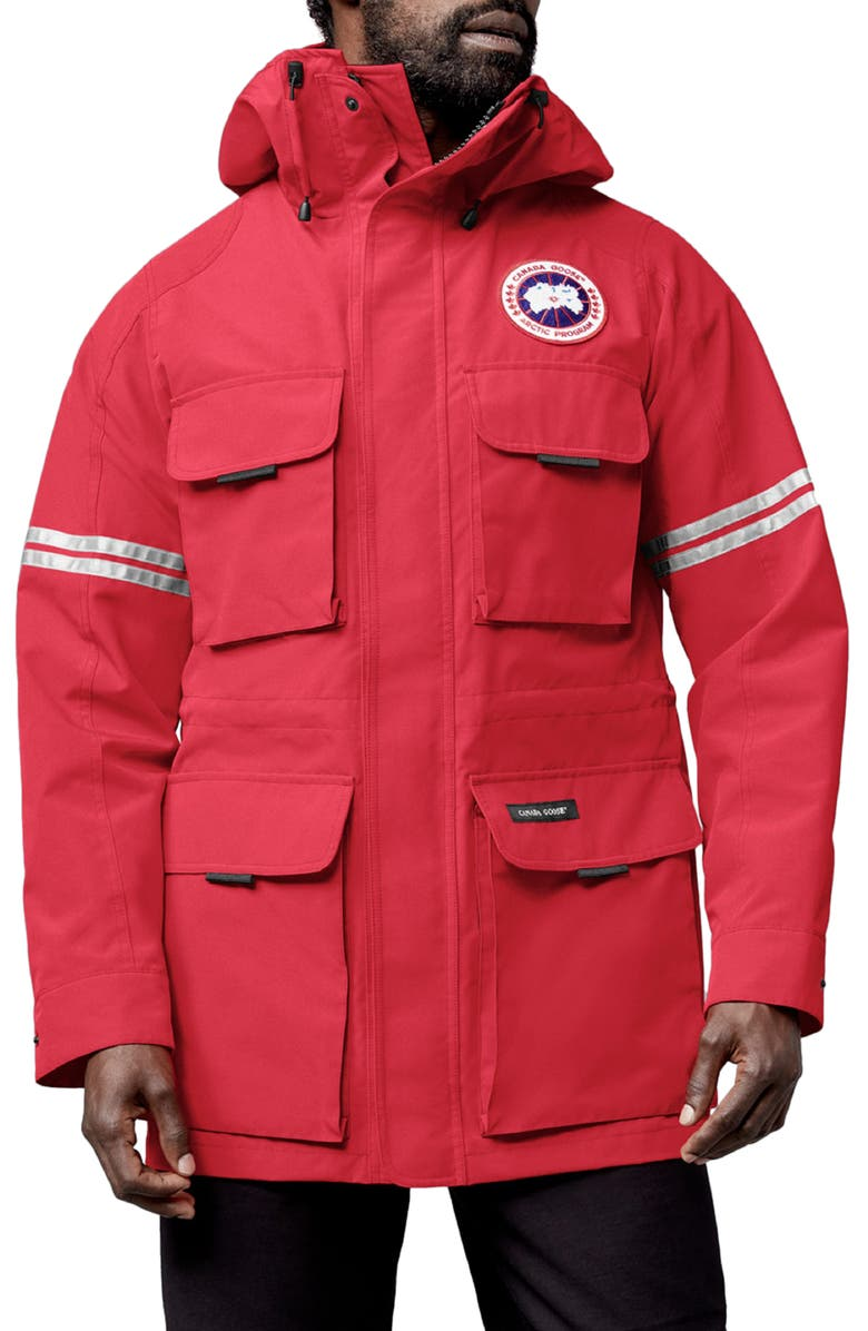 CANADA GOOSE Science Research Water Resistant Jacket, Main, color, RED
