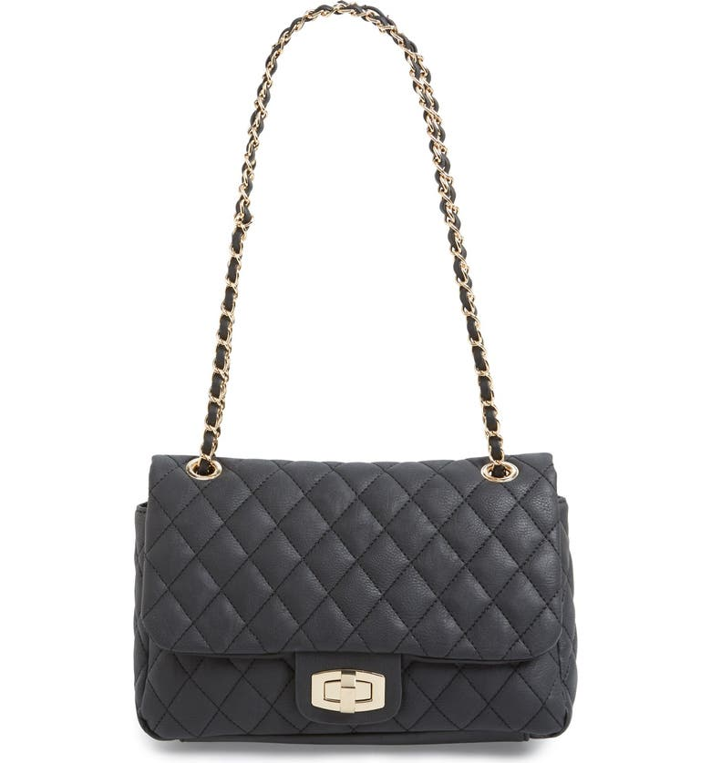 BP. Quilted Faux Leather Crossbody Bag, Main, color, 001