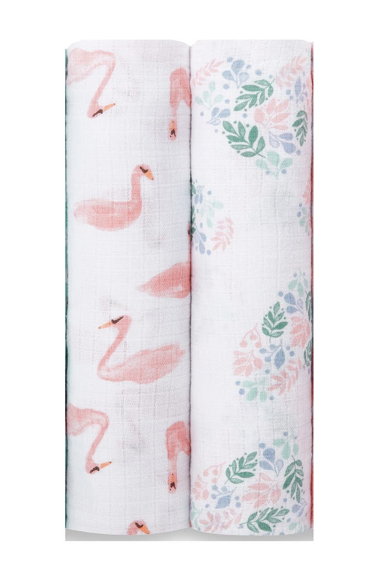 ADEN AND ANAIS ESSENTIALS Briar Rose Swaddle Blankets - Pack of 2, Main, color, PINK