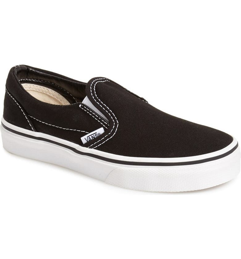 VANS 'Classic' Slip-On, Main, color, BLACK/ TRUE WHITE