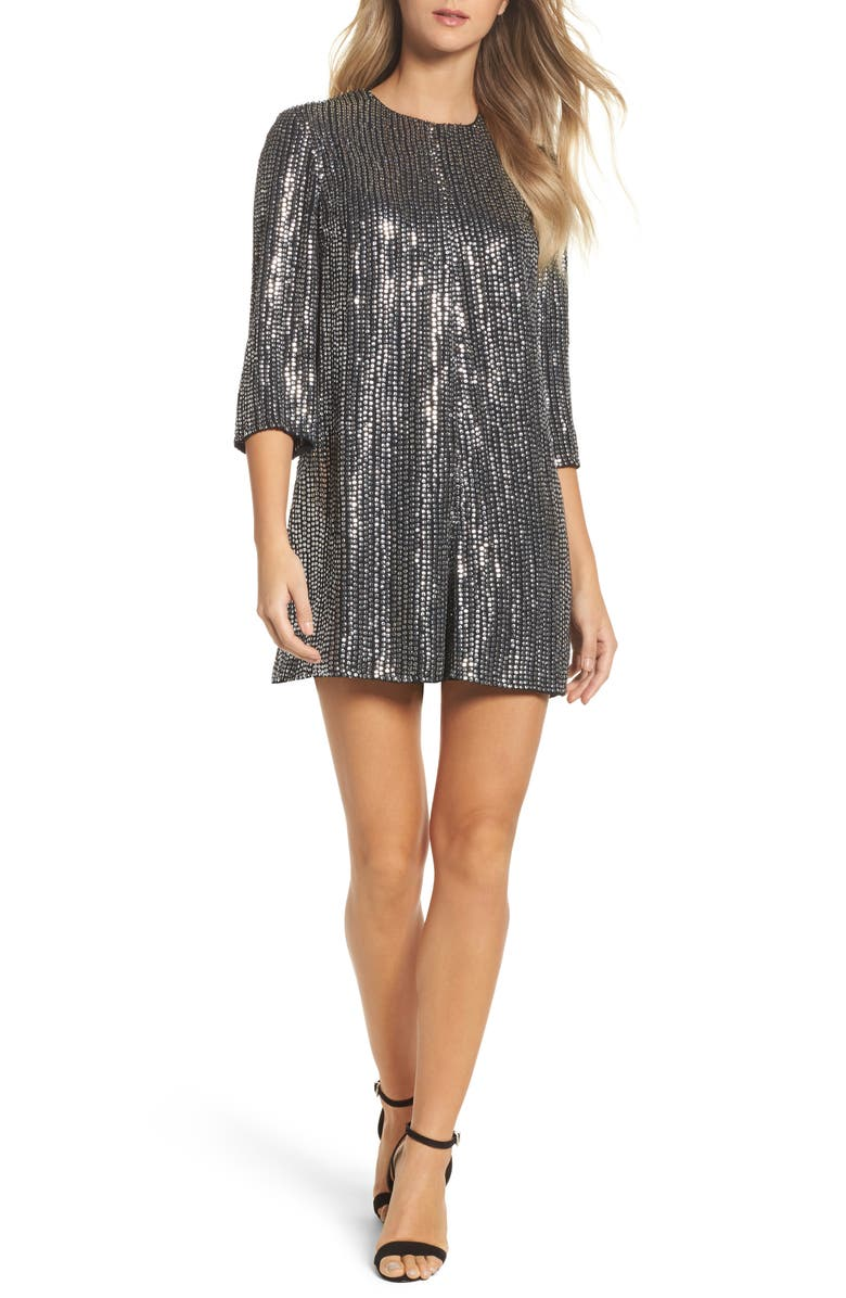 FRENCH CONNECTION Desiree Disco Romper, Main, color, 005