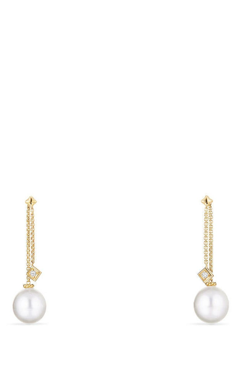 DAVID YURMAN Solari Earrings with Diamonds in 18K Gold, Main, color, YELLOW GOLD/ SOUTH SEA WHITE