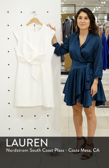 Polly Structured Bow Minidress, sales video thumbnail