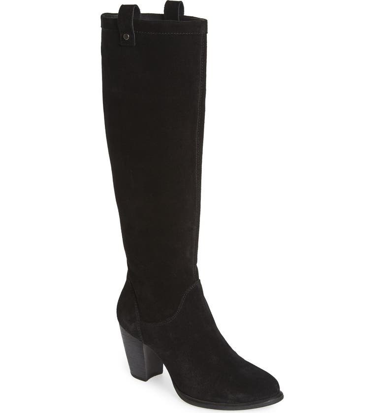UGG<SUP>®</SUP> 'Ava' Tall Water Resistant Suede Boot, Main, color, BLACK SUEDE