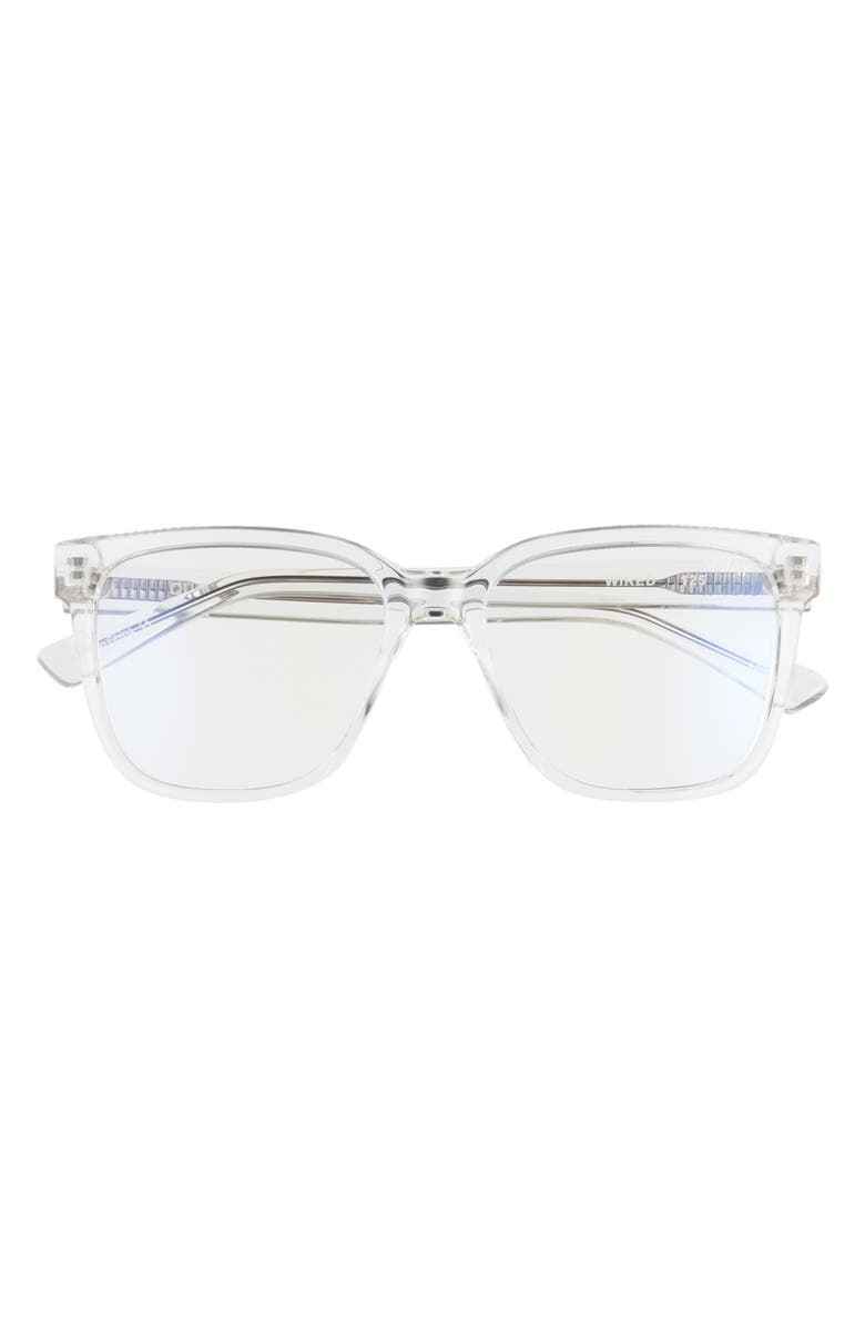 QUAY AUSTRALIA Wired 50mm Blue Light Filtering Glasses, Main, color, CLEAR/ CLEAR BLUE LIGHT
