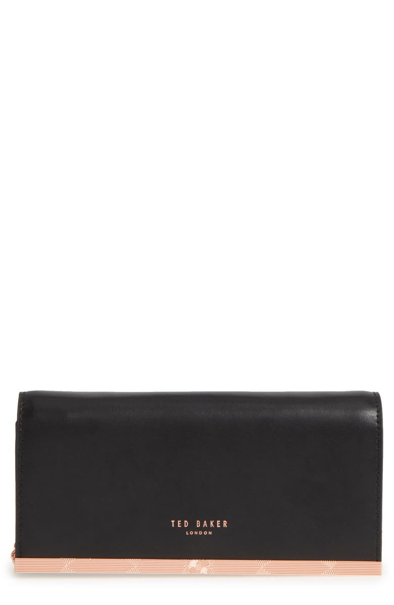 TED BAKER LONDON Leather Matinée Wallet on a Chain, Main, color, 001
