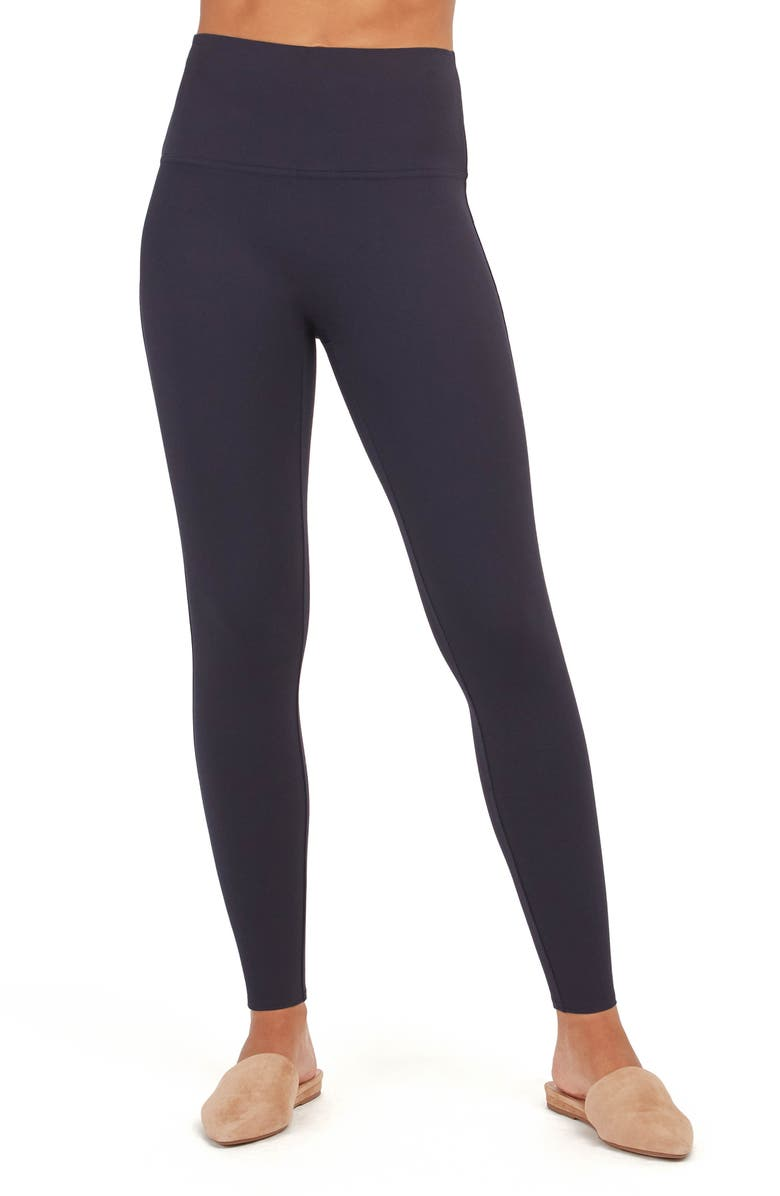 SPANX<SUP>®</SUP> Ponte Ankle Leggings, Main, color, CLASSIC NAVY