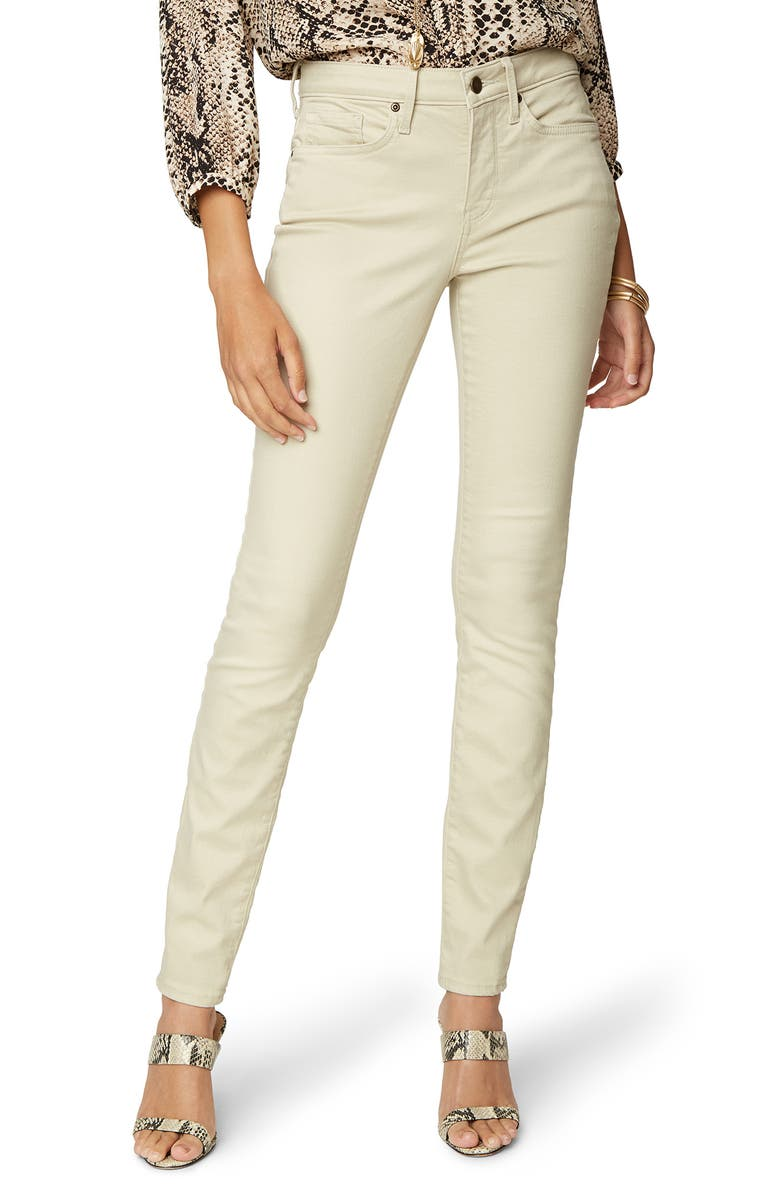 NYDJ Ami Stretch Skinny Jeans, Main, color, FEATHER