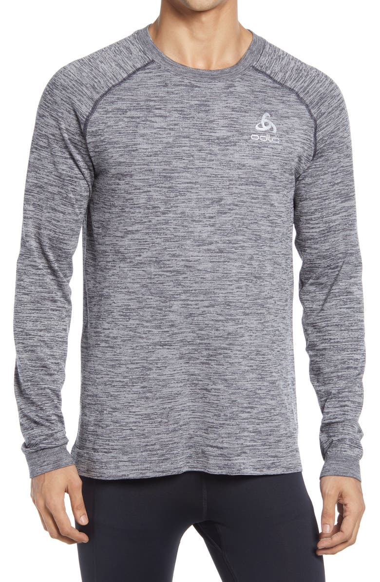 ODLO Millenium Yakwarm Midlayer Top, Main, color, GRAY MELANGE