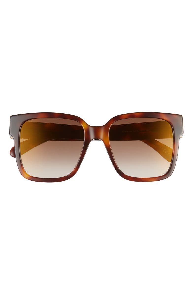 GIVENCHY 53mm Square Sunglasses, Main, color, LIGHT HAVANA/ BROWN