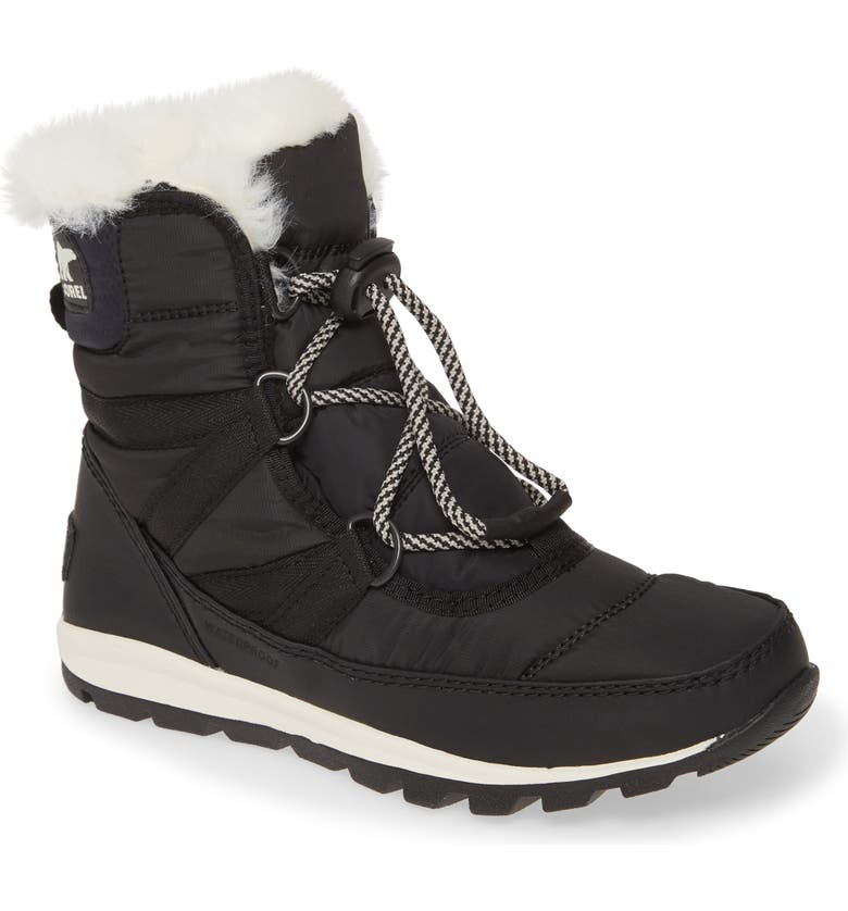 SOREL Whitney Short Lace Waterproof Insulated Boot, Main, color, 011