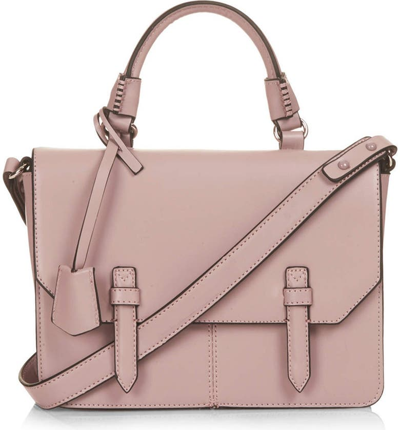 TOPSHOP 'Medium Clean' Satchel, Main, color, 650